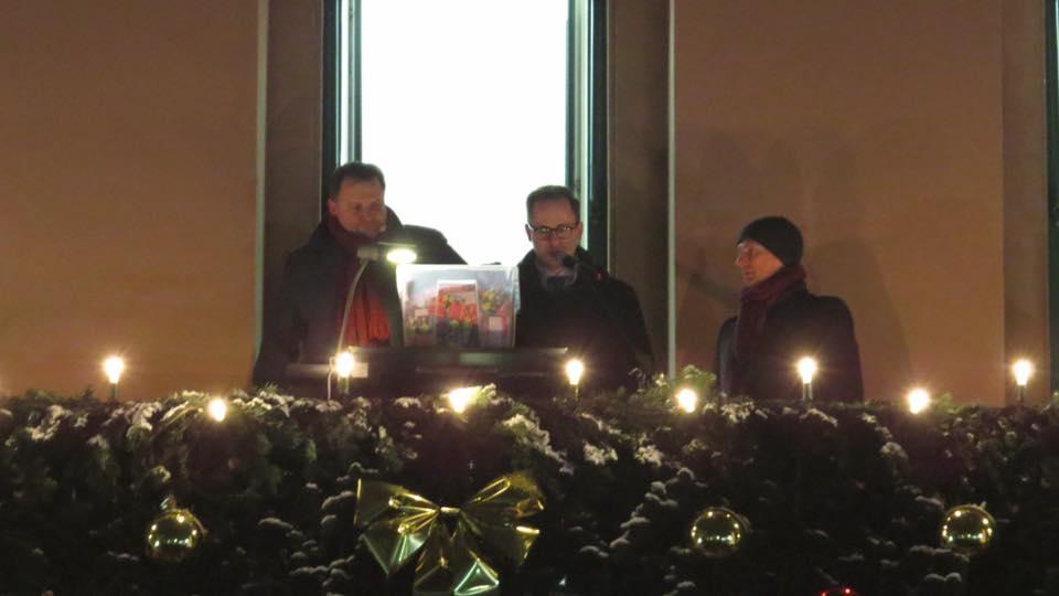 palvino Eppingen HGV Ziehung Lose Balkon Rathaus Philipp Loll Klaus Holaschke
