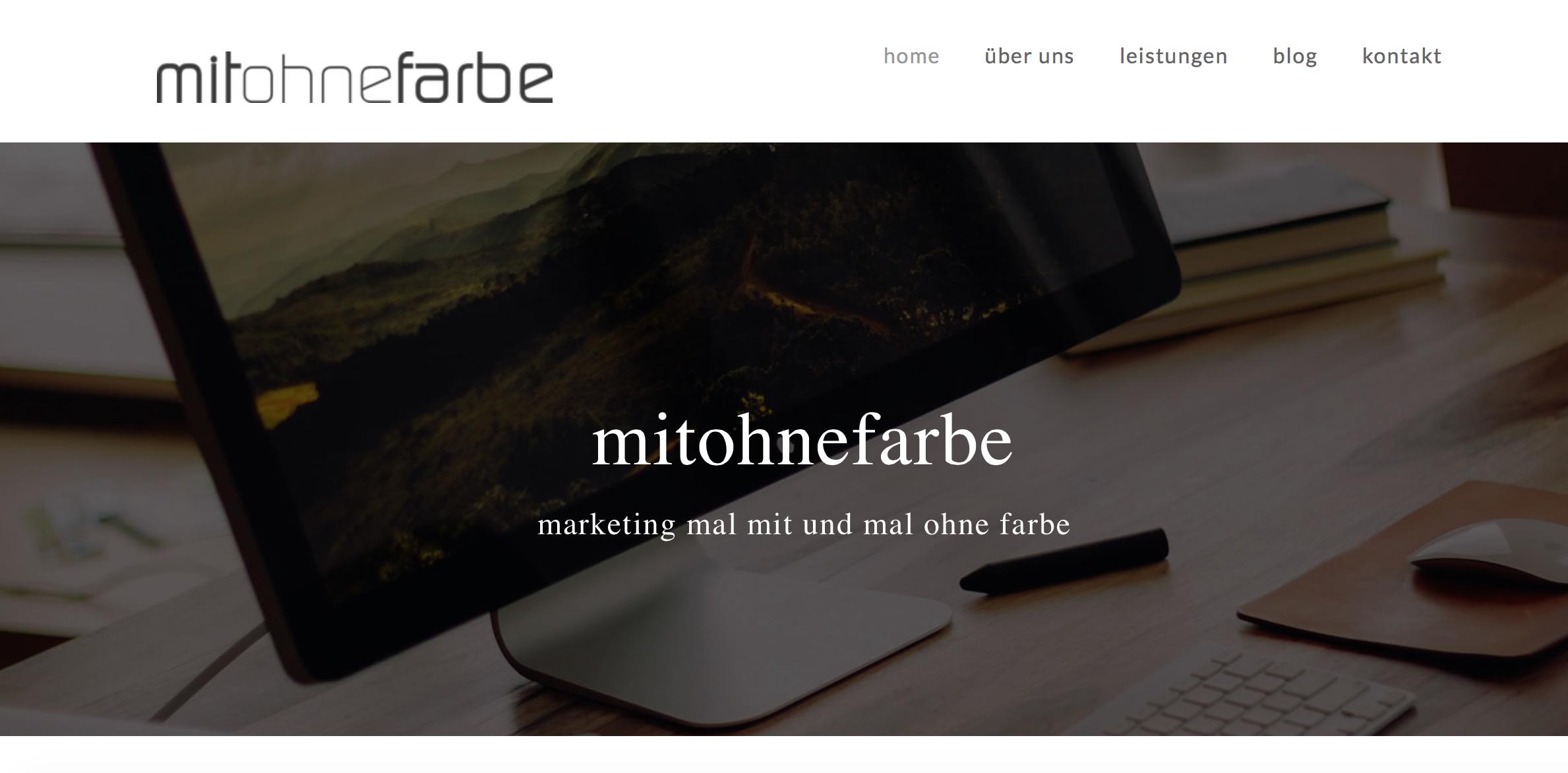 mitohnefarbe webdesign responsive social media blog wordpress eppingen