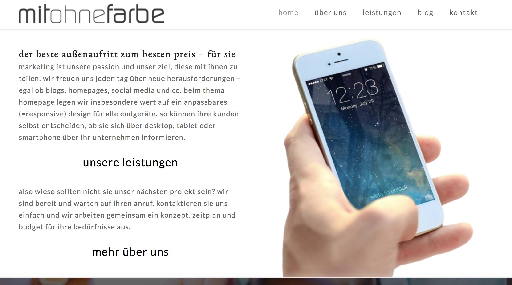 mitohnefarbe webdesign responsive social media blog wordpress eppingen 2